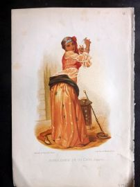 Gregoire 1876 Print. Almee Danseuse du Caire. Cairo Egypt Belly Dancer